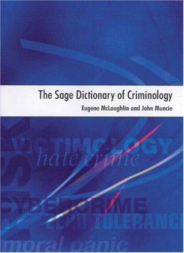 SAGE Dictionary of Criminology   2001 9780761959083 Front Cover