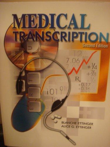 Medical Transcription 2nd 2003 9780763814083 Front Cover
