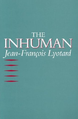 Inhuman Reflections on Time  1992 edition cover