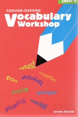 Vocabulary Workshop, Student Text, Level C 1st 2002 (Student Manual, Study Guide, etc.) 9780821576083 Front Cover