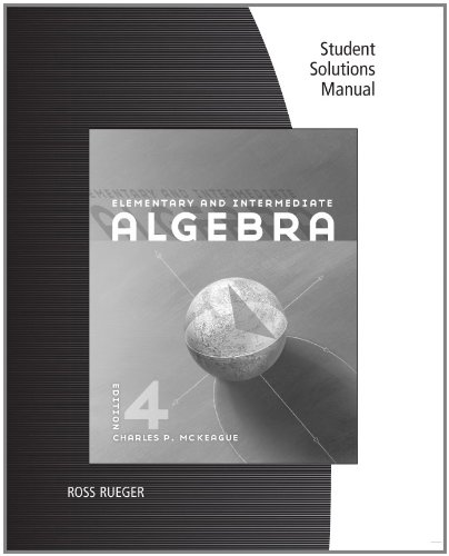 Elementary and Intermediate Algebra  4th 2012 9781111575083 Front Cover
