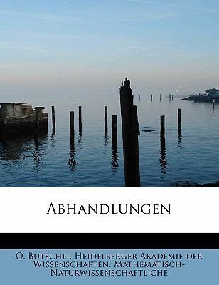 Abhandlungen  N/A 9781116682083 Front Cover
