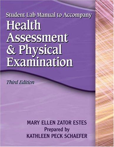 Study Gde-Health Assessment 3e  3rd 2006 edition cover