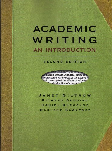Academic Writing An Introduction 2nd 2009 edition cover