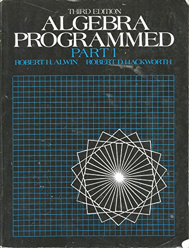 Algebra Programmed 3rd 9780130219084 Front Cover