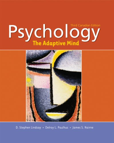 PSYCHOLOGY:THE ADAPTIVE MIND > 3rd 2007 edition cover