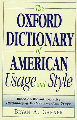 Oxford Dictionary of American Usage and Style   2000 edition cover