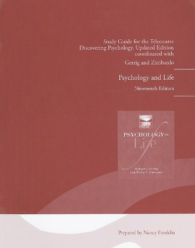Telecourse Study Guide for Psychology and Life  19th 2010 9780205757084 Front Cover