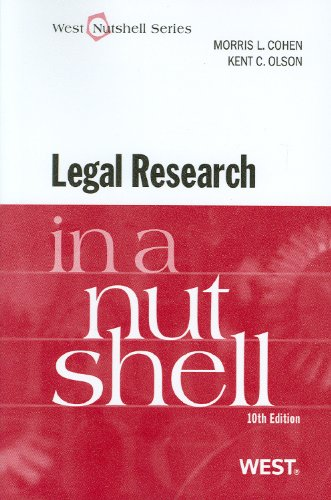 Legal Research in a Nutshell  10th (Revised) edition cover