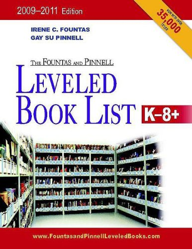 Fountas and Pinnell Leveled Book List, K-8+, 2010-2012   2009 edition cover