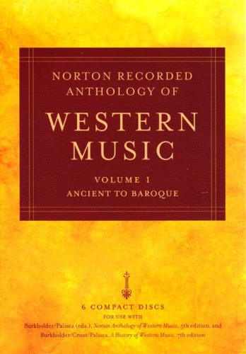 Norton Anthology Western Music  5th 2005 edition cover
