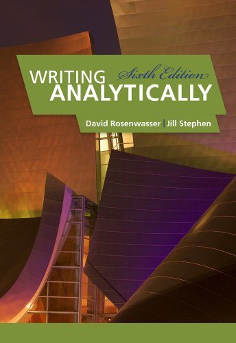 Writing Analytically  6th 2012 9780495910084 Front Cover