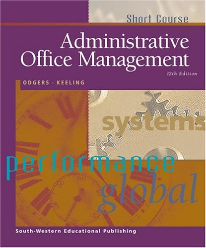 Administrative Office Management, Short Course  12th 2000 edition cover