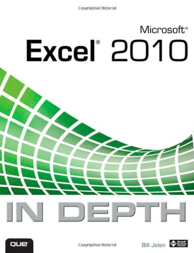 Microsoft Excel 2010 in Depth   2010 edition cover