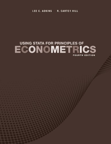 Using Stata for Principles of Econometrics  4th 2012 edition cover