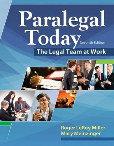 Paralegal Today: The Legal Team at Work  2016 9781305506084 Front Cover