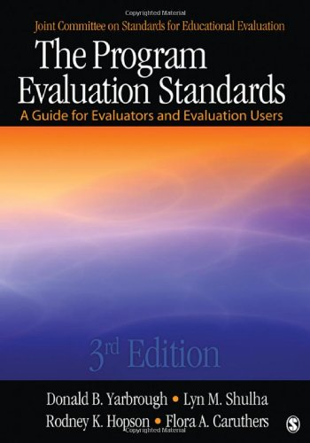 Program Evaluation Standards A Guide for Evaluators and Evaluation Users 3rd 2011 edition cover