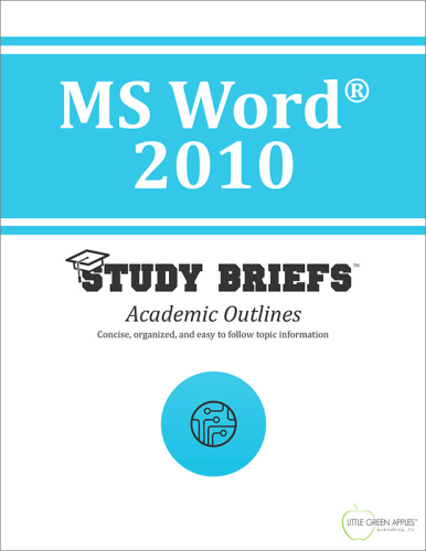 MS Word® 2010 1st 9781634260084 Front Cover