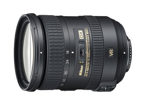 Nikon 18-200mm f/3.5-5.6G AF-S ED VR II Nikkor Telephoto Zoom Lens for Nikon DX-Format Digital SLR Cameras product image
