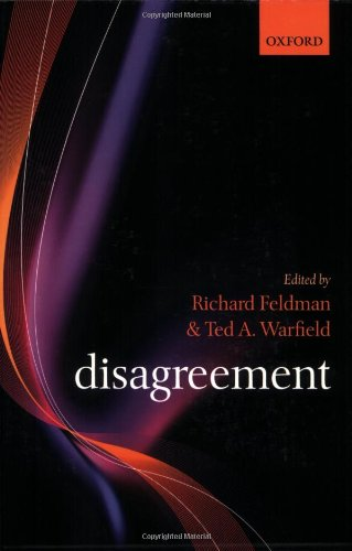 Disagreement   2010 9780199226085 Front Cover
