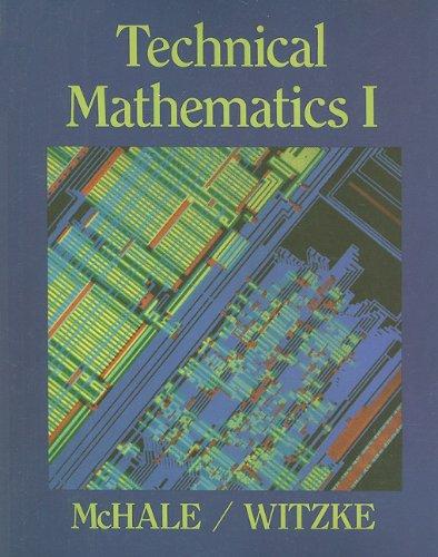 Technical Mathematics I   1988 edition cover