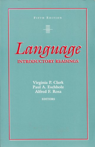 Language : Introductory Readings 5th 1994 edition cover