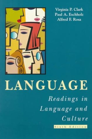 Language Readings in Language and Culture 6th 1998 edition cover