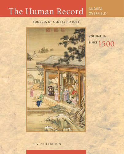 Human Record Sources of Global History - Since 1500 7th 2012 edition cover