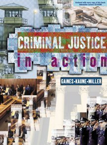 Criminal Justice in Action The Core  2000 9780534568085 Front Cover