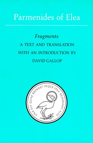 Parmenides of Elea A Text and Translation with an Introduction 2nd 1991 (Revised) edition cover