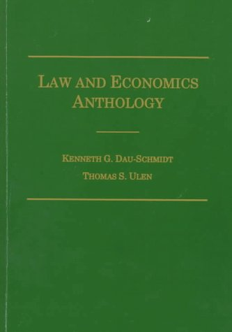 Law and Economics Anthology 5th (Revised) 9780870842085 Front Cover