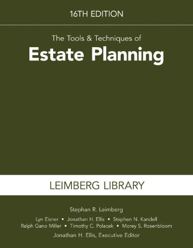 The Tools & Techniques of Estate Planning:   2013 edition cover
