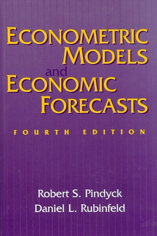 Econometric Models and Economic Forecasts  4th 1998 edition cover