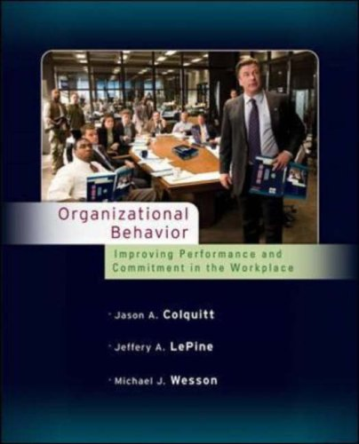 Organizational Behavior Improving Performance and Commitment in the Workplace  2009 edition cover