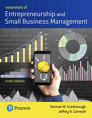 Essentials of Entrepreneurship and Small Business Management:   2018 9780134741086 Front Cover