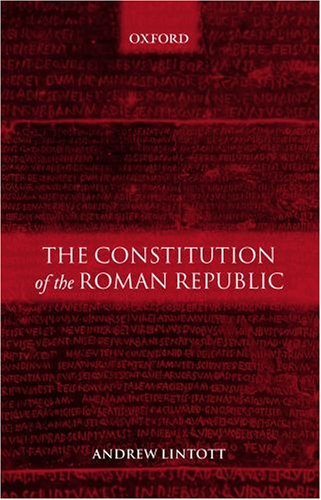 Constitution of the Roman Republic   2003 9780199261086 Front Cover