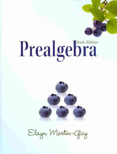 Prealgebra  6th 2011 9780321640086 Front Cover