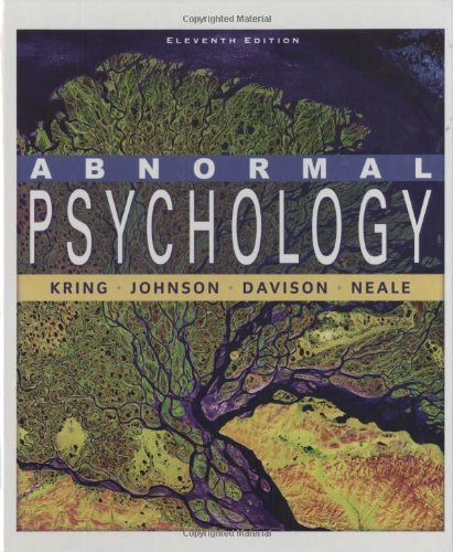 Abnormal Psychology  11th 2010 edition cover