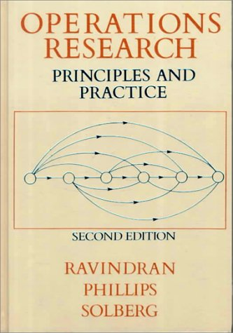 Operations Research Principles and Practice 2nd 1987 (Revised) edition cover