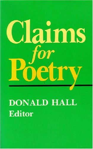 Claims for Poetry  N/A edition cover