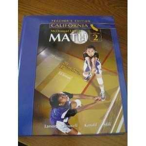 Mcdougal Littell Middle School Math California Course 2: Teacher Edition  2007 9780618807086 Front Cover
