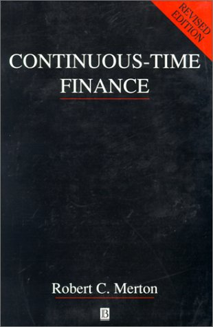 Continuous-Time Finance   1992 (Revised) edition cover