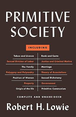 Primitive Society  N/A 9780871400086 Front Cover