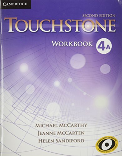 TOUCHSTONE LEVEL 4 WORKBOOK A 2ND EDITION  2nd 2013 9781107627086 Front Cover