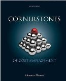 CORNERSTONES OF COST MGMT.-W/A N/A 9781285486086 Front Cover
