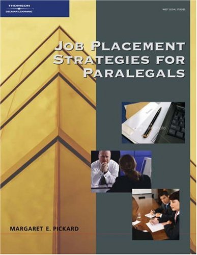 Job Placement Strategies for Paralegals   2008 edition cover