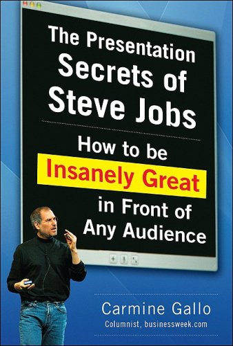 Presentation Secrets of Steve Jobs How to Be Insanely Great in Front of Any Audience  2010 edition cover