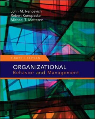 Organizational Behavior and Management  8th 2008 (Revised) edition cover