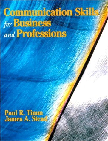 Communication Skills for Business and Professions  1st 1996 9780133486087 Front Cover