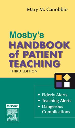 Mosby's Handbook of Patient Teaching  3rd 2005 (Revised) edition cover